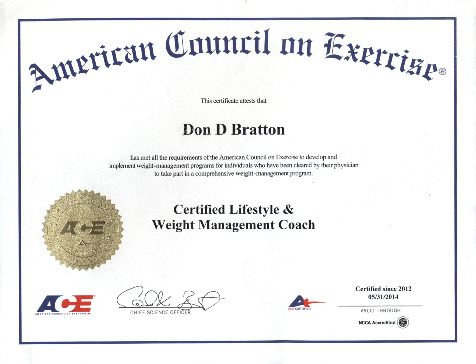 Certifications Get Fit With Don Fit